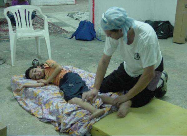 טיפול בילד במקלט, בזמן לחימה בצפון